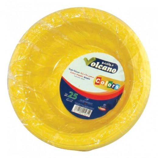 فولكينو– سلطانية بلاستيك ألوان متعددة – 6 بوصة - 25 حبة
