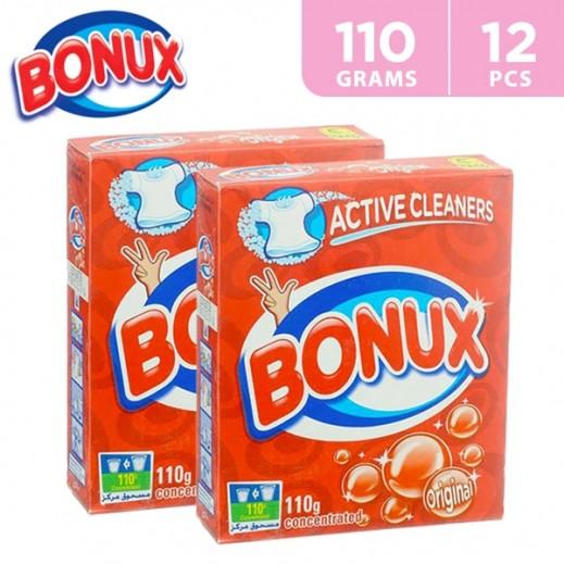 """بونكس – مسحوق الغسيل للغسالات العادية """" عطر أصلي """" 110 جم ( 12 حبة ) - عرض التوفير"""