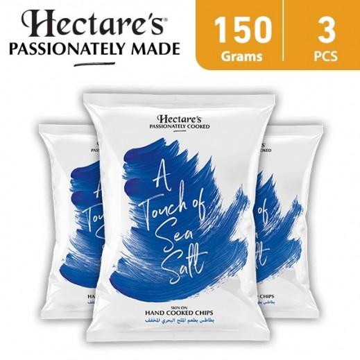 هيكترز - رقائق بطاطس بطعم الملح البحري المخفف 3 × 150 جم