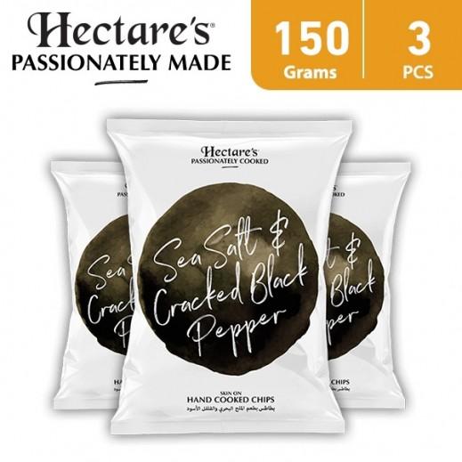 هيكترز - رقائق بطاطس بطعم الملح البحري والفلفل الأسود 3 × 150 جم