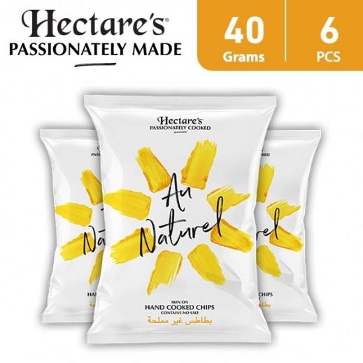 هيكترز - رقائق بطاطس ناتشريل غير مملحة 6 × 40 جم
