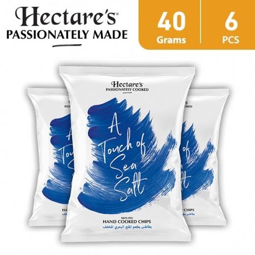 هيكترز - رقائق بطاطس بطعم الملح البحري المخفف 6 × 40 جم