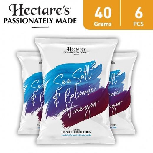 هيكترز - رقائق بطاطس بطعم الملح البحري والخل 6 × 40 جم