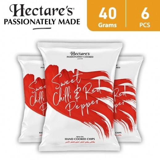 هيكترز - رقائق بطاطس بطعم الفلفل الحلو والفلفل الأحمر 6 × 40 جم