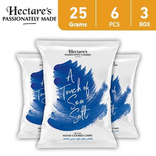 هيكترز - رقائق بطاطس بطعم الملح البحري المخفف 25 جم (6 × 3)