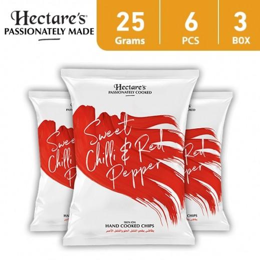 هيكترز - رقائق بطاطس بطعم الفلفل الحلو والفلفل الأحمر 25 جم (6 × 3)