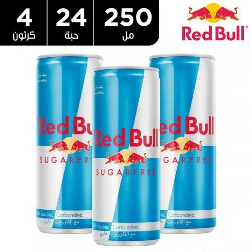 ريد بُل مشروب الطاقة خالي من السكر 250 مل ( 4 كرتون × 6 حبة )