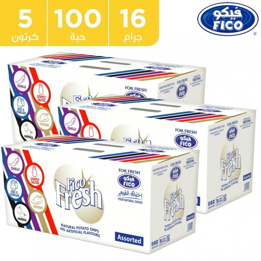 فيكو بطاطا فريش مقرمشة نكهات متنوعة 100 × 16 جم