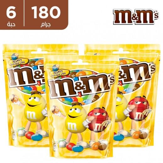 ام اند امز شوكولاتة بالفول السوداني 6 x 180 جم