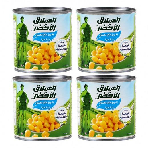 العملاق الأخضر – ذرة حلوة (بدون ملح مضاف) 4 حبة × 340 جرام (أسعار الجملة)