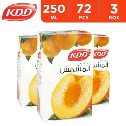 كى دى دى - عصير المشمش 250 مل ( 3 كرتون × 24 حبة ) - أسعار الجملة