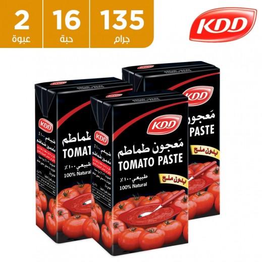 كي دي دي - معجون طماطم 16 × 135 جم