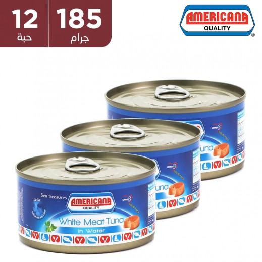 أمريكانا - لحم التونة الأبيض في ماء 12 × 185 جم - أسعار الجملة