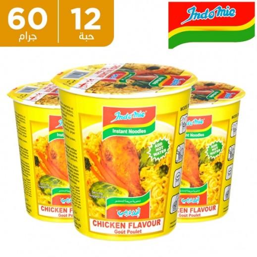 إندومي – شعيرية سريعة التحضير بنكهة الدجاج - كوب 60 جم × 12 حبة - أسعار الجملة