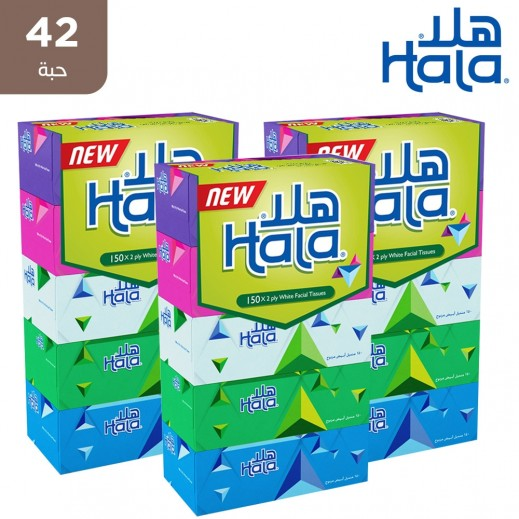 هلا - مناديل ورقية 150 منديل × 2 طبقة ( 42 حبة )