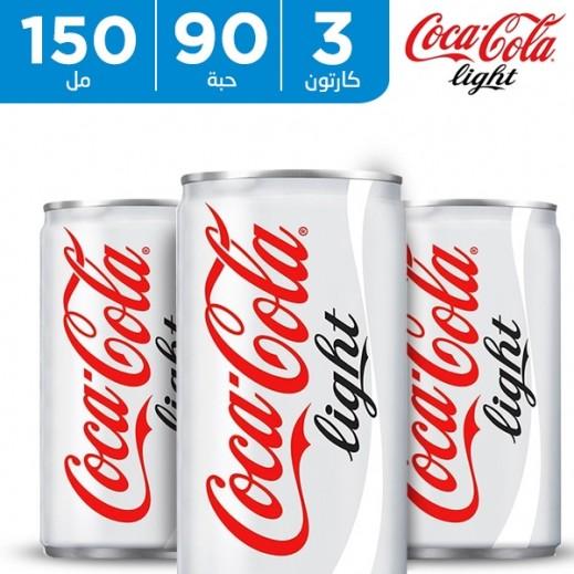 كوكا كولا لايت - مشروب غازي 150 مل (3 × 30 حبة)