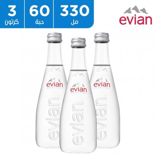 إفيان – مياه معدنية طبيعية 330 مل (3 × 20)