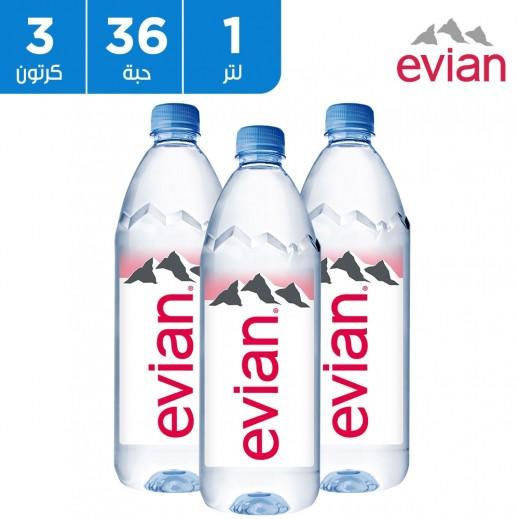 إفيان – مياه معدنية طبيعية سبورت كاب 36× 1 لتر