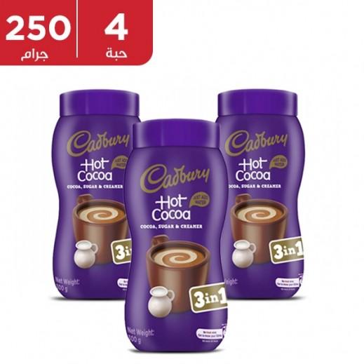كادبوري - مشروب الشوكولاتة 3 في 1 الأصلي 4 × 300 جم