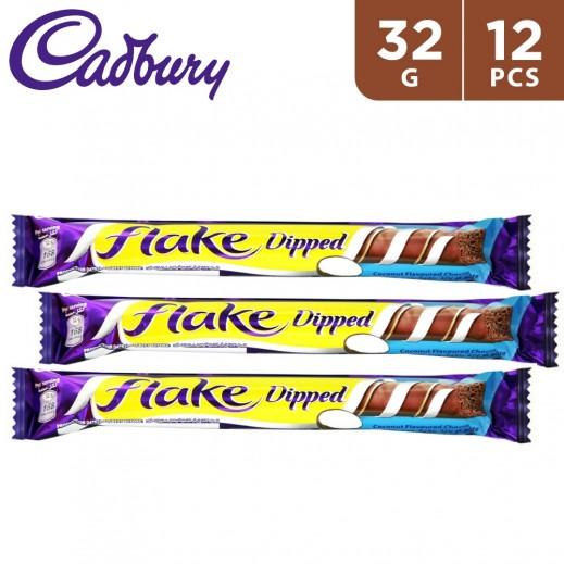 كادبوري فليك شوكولاتة بنكهة جوز الهند 12 × 32 جم