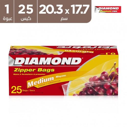 دايموند - أكياس للتخزين متوسط 20.3 × 17.7 سم (25 كيس)