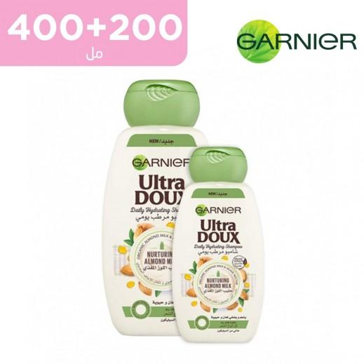 غارنييه - شامبو الترطيب الترا دوكس بحليب اللوز 400 مل + 200 مل مجاناً