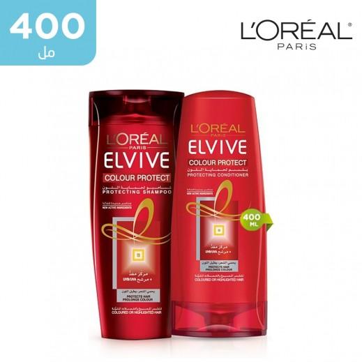 لوريال إلڤيڤ – شامبو لحماية لون الشعر 400 مل + بلسم 400 مل