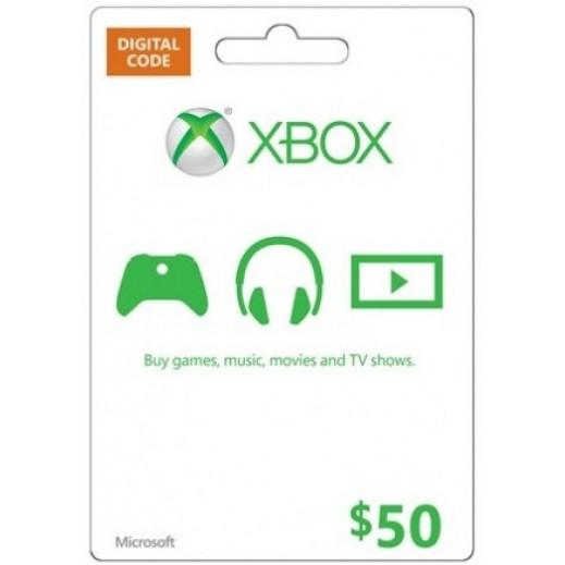 بطاقة XBOX  بقيمة 50 دولار للحسابات الأمريكية فقط –  إستلم فورا على بريدك الإلكتروني