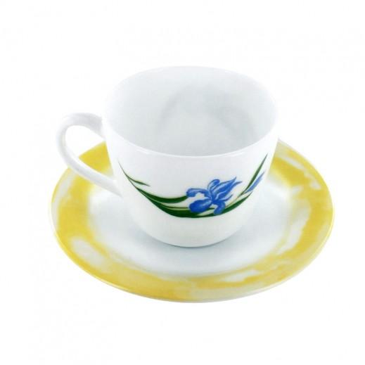 بورميولي روكي – طقم أكواب شاي مع أطباق – 6 قطع