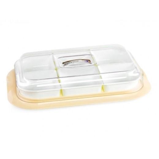 ستيلو - صينية  مستطيلة لتقديم الفواكه الجافة والمكسرات - أصفر