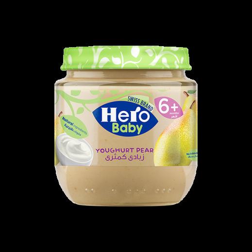 هيرو – طعام الأطفال بالكمثري والزبادي 120 جم