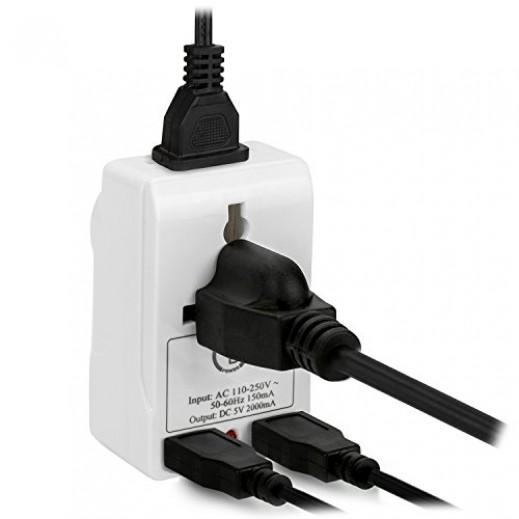 ترمنايتور وصلة محول متعددة 2 مقابس RP SOUCKO مع 2 منافذ USB موديل (TMA-32SU)