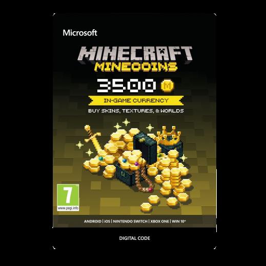 بطاقة فورية للعبة Minecraft بقيمة 19.99 دولار 3500 عملات معدنية (استلام عبر الإيميل)