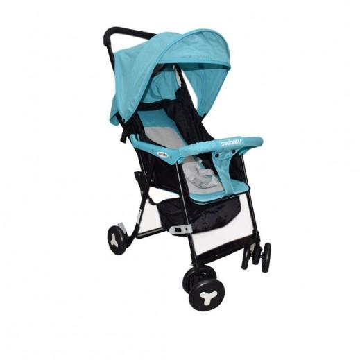 سي بيبي - عربة أطفال قابلة للطي - أزرق