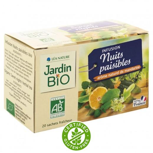 جاردن بايو – شاي مجفف بالأعشاب مهدئ بالليل 30 جم (20 كيس)