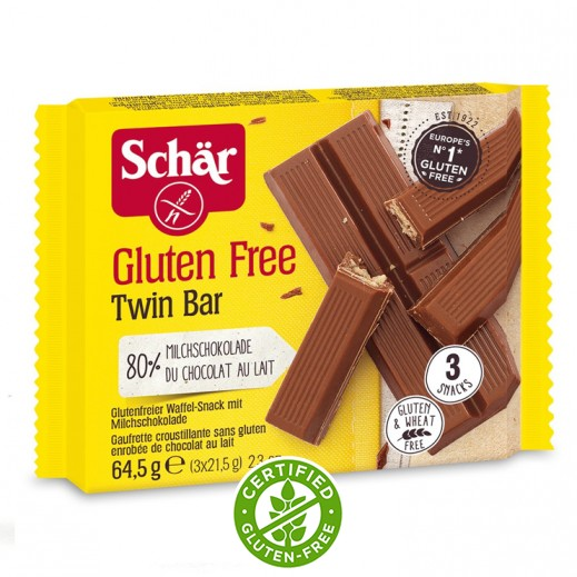 شار – شوكولاتة توين بار خالي من الجلوتين 64.9 جم