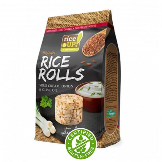 رايس أب - لفائف الأرز - بالكريمة والبصل وزيت الزيتون 50 جم