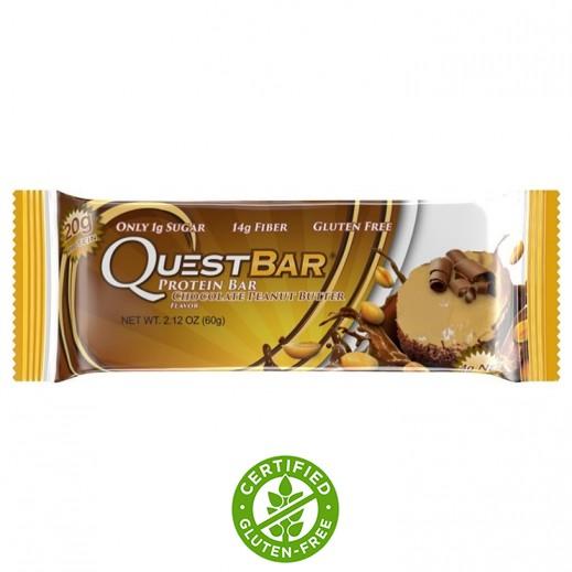 كويست بار – لوح البروتين الطبيعي بنكهة الشوكولاتة بزبدة الفول السوداني 60 جم