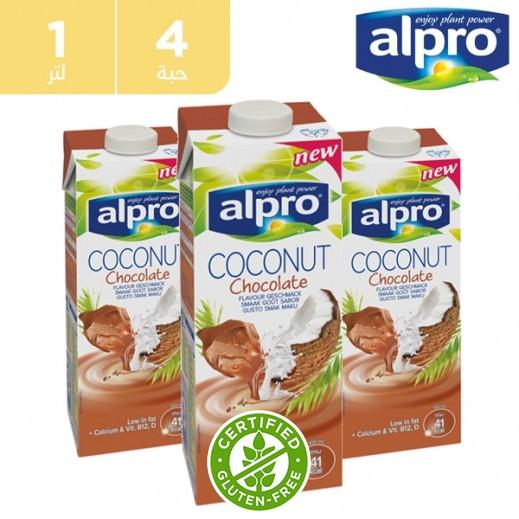 ألبرو – مشروب جوز الهند والشوكولاته 4 × 1 لتر