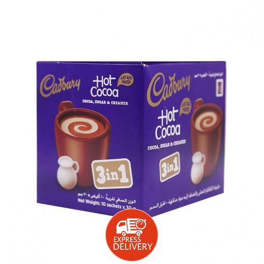 كادبوري - مشروب كاكاكو 3 في 1 بالشوكولاته 10 × 30 جم