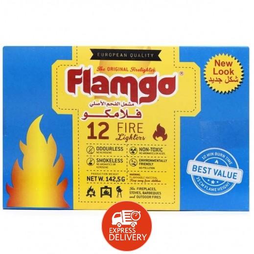 فلامكو - مشعل للفحم 140 جرام (12 قطعة)