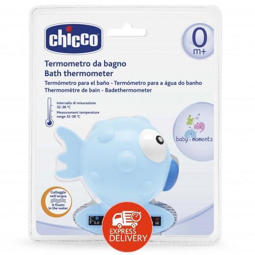 شيكو – ميزان حراري للحمام Globe Fish لقياس درجة الحرارة - لون أزرق فاتح