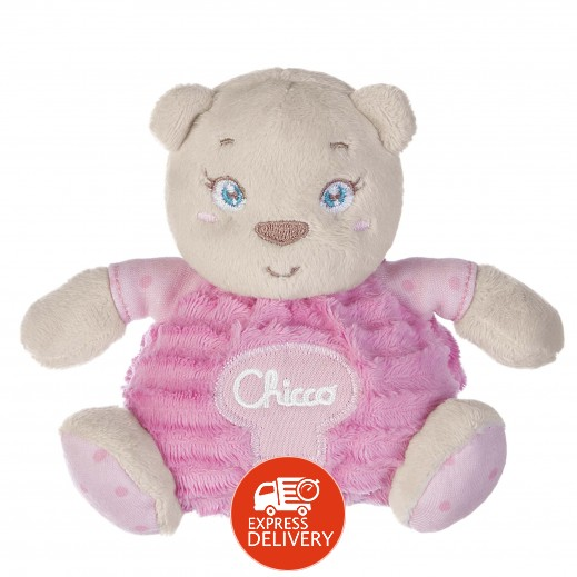 شيكو– دمية الدب الوردي الصغيرة للأطفال