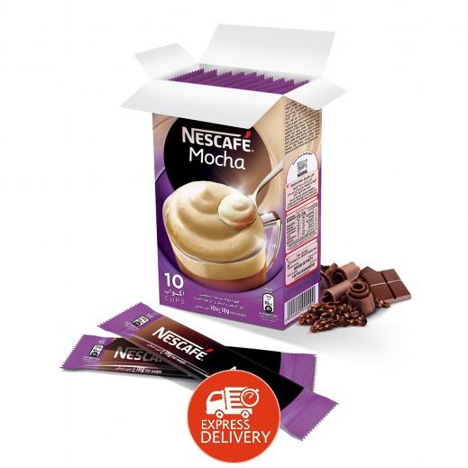 نسكافيه موكا - قهوه بنكهة الشوكولاتة - 10 كيس × 18 جم