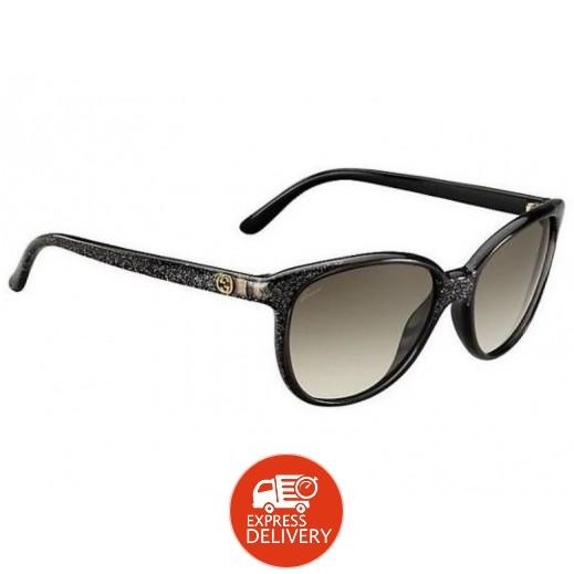 جوتشي – نظارة شمسية للسيدات أسود 55 مم