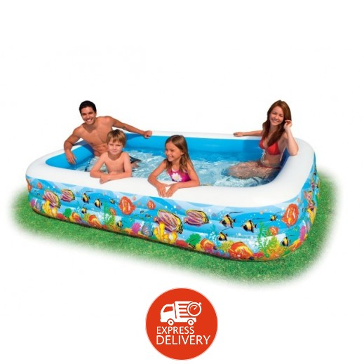إنتكس – حمام سباحة عائلي مزخرف بالشعاب الاستوائية 305 × 183 × 56 سم