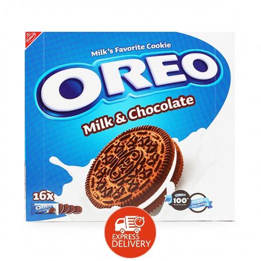 اوريو – بسكويت اوريو بالحليب والشوكولاته 16 × 38 جرام