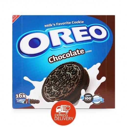 اوريو – بسكويت بكريمة الشوكولاته 16 × 38 جرام
