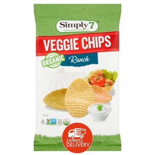 سيمبلي 7 – رقائق شيبس عضوية بالخضروات خالية من الجلوتين 113 جم
