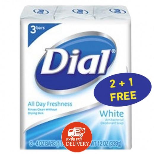 دايل – دايل – صابون معطر ومضاد للبكتيريا أبيض 113 جم (2+1 مجاناّ) عرض خاص